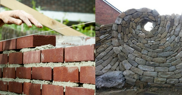 Advantages and disadvantages of brick masonry over stone for Mixing brick and stone