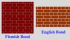 Difference between English Bond and Flemish Bond